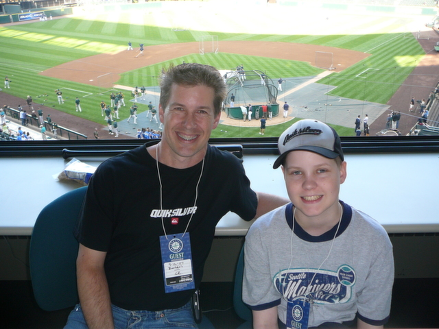 Gary and Christian at Baseball