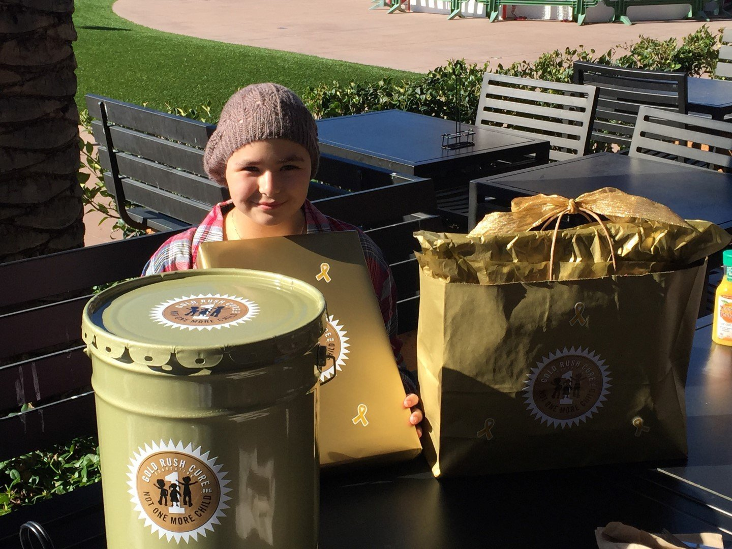 Outdoor Seating Pot of Gold Delivery